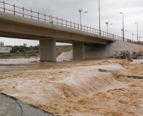 Sewage flowing in Gaza, 2010